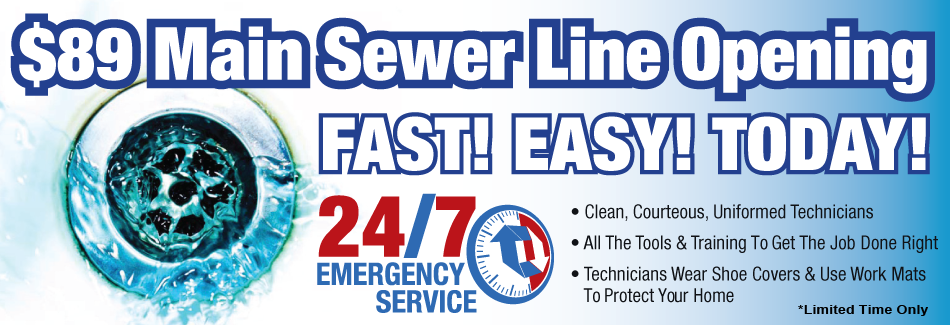 Let us open your clogged sewer line in Muscle Shoals, AL today!
