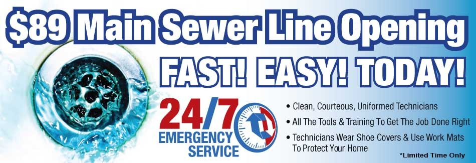 Let us open your clogged sewer line in Muscle Shoals AL today!