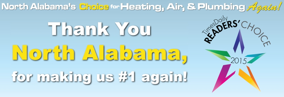 Trust the #1 readers choice HVAC company in Alabama with your AC repair.